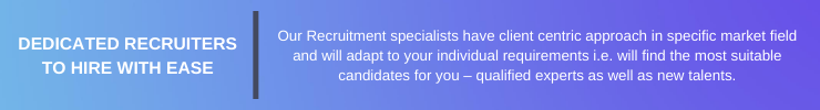 Dedicated Recruiters to hire with ease